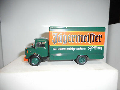 MERCEDES-BENZ L1113 1969 JAGERMEISTER TEST DeAGOSTINI TRUCKS GERMANY IXO 1:43