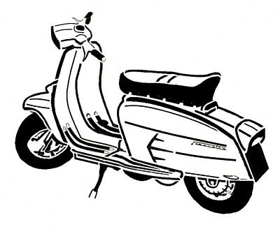 high detail airbrush stencil lambretta scooter eight FREE UK POSTAGE