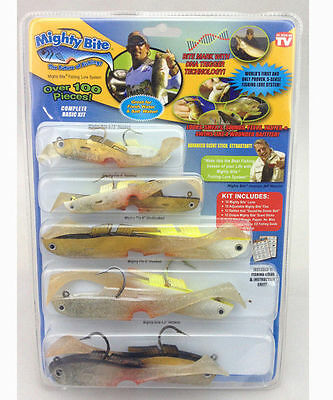 10 Ten x Mighty Bite Fishing Soft eels fish Lure kit 100 Pieces set wholesale.,