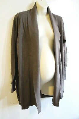 Oh Baby Motherhood Maternity Cardigan Sweater Size XL 16 18 Brown Retail $52