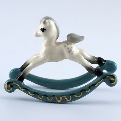 Vintage Hagen Renaker Rocking Horse Foal #991 Miniature Figurine - Repaired