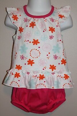 GIRLS 6/9 months 2-piece outfit NWT floral dress & pink bloomers Fisher-Price