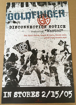 GOLDFINGER Rare 2005 PROMO POSTER for Disconnection CD USA seler NEVER DISPLAYED