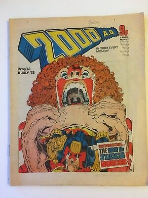 2000ad #72 Banned Issue Rare 2000 ad NM