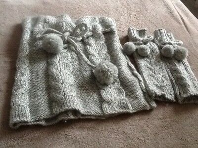 M&S Ladies Snood And Long Fingerless Gloves Set