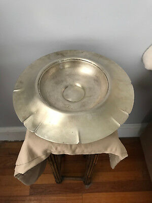 Pedestal Bowl Silver Plated Antique Early 20th Century Taber and Tibbits