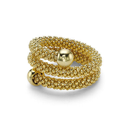 Jewelco London Gilded Sterling Silver Double Wrap Popcorn Fashion Ring