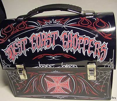 West Coast Choppers Usa  Motorcycle Metal Tin Lunch Box Biker Art Jesse James