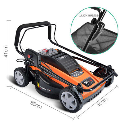 Portable Lawn Mower 36V Lithium Lawnmower Grass Catch Adjustable Handle Gi-Power