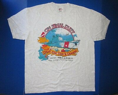 Coast Guard Bibb & Duane shirt Key Largo Florida United States USCG ship diving