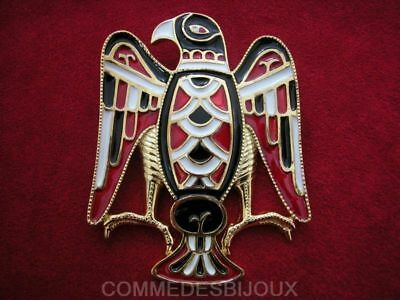 """Broche """"Aigle Royal"""" Rouge Noir By FRIED Grand Rapace - Bijoux pur Collection"""