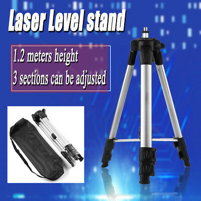 Adjustable Aluminum Light Weight Tripod Stand Extension For Laser Air Level Bag