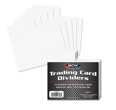 (100) BCW Horizontal Trading Card Dividers - Fits Single Row Card Storage Boxes