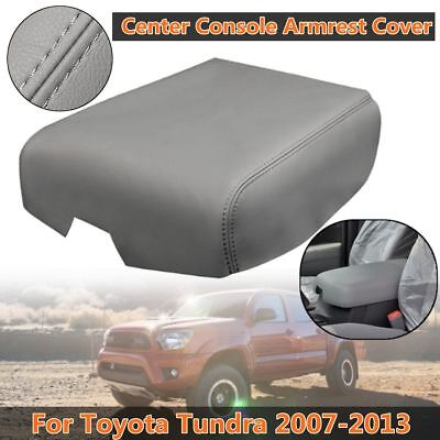 New Armrest Center Console Lid Cover Grey Leather For Toyota Tundra 2007-2013