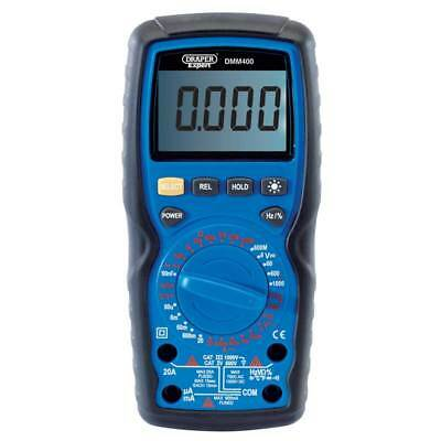 Draper Expert Digital Multimeter AC/DC (Manual Ranging) with Test Leads & Probe