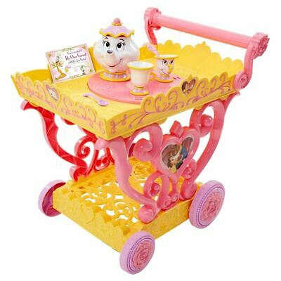 Disney Princess Belle Musical Tea Party Cart Playset Toy For Ages 3+