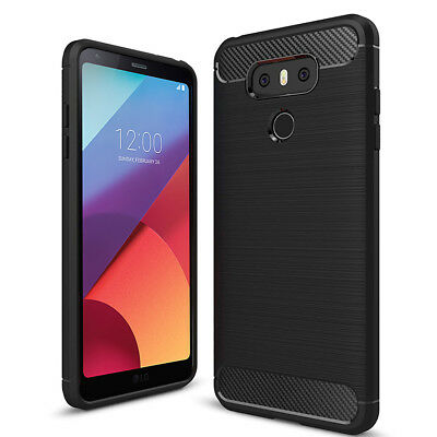 Luxury Ultra Slim Carbon Fibre Shockproof Bumper Case Cover For LG G6 H870