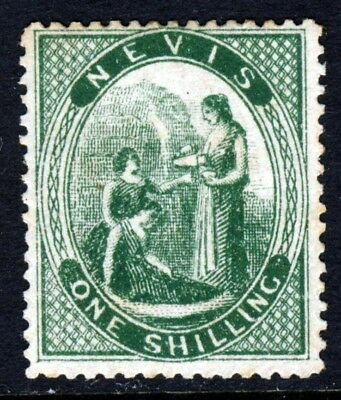 NEVIS Queen Victoria 1871-78 One One Shilling Deep Green Perf 15 SG 21 MINT