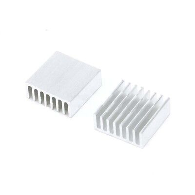 5pcs Aluminum Heatsink Heat Sink Thermal Pads Transfer Blades Silver 25x25x10mm