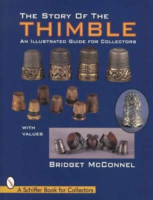 Vintage Thimble Collectors Reference w c1900 Ornate Sterling Silver & Porcelain