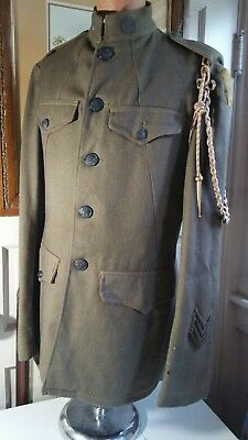 100%original World War One U.s. Army First Division Doughboy Tunic-Just As Found