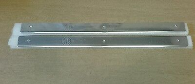 MGF DOOR SILL PLATE TREAD COVERS X 2 New BRIGHT FINISH Genuine EAP100790MMM