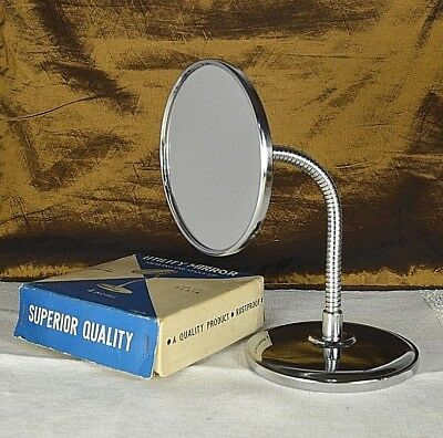 Vintage Flex Neck Shaving Make-Up Mirror Magnifying Bathroom Rustproof Retro