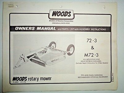 Alamo Hydro 60 72 Rotary Mower Owners Parts Manual 1999 Picclick