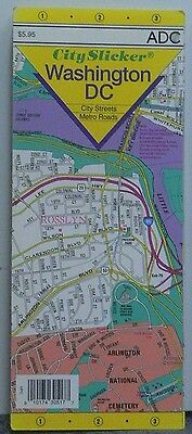 1999 ADC City Slicker Laminated Street Map & Guide of Washington DC