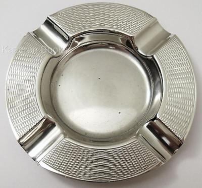 Vintage Sterling Silver Engine Turned Ash Tray 1963 Harman Brothers