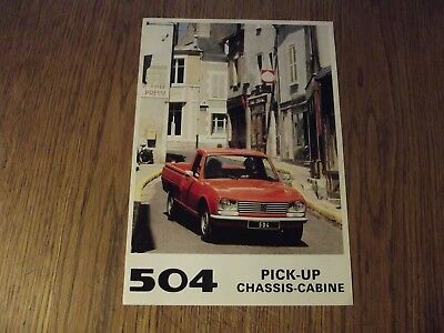 Catalogue Neuf Peugeot 504 Pick Up.