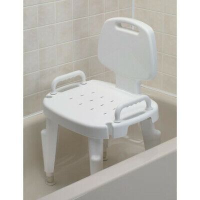 Ableware 727142120 Adjustable Shower Seat with Arms and Back