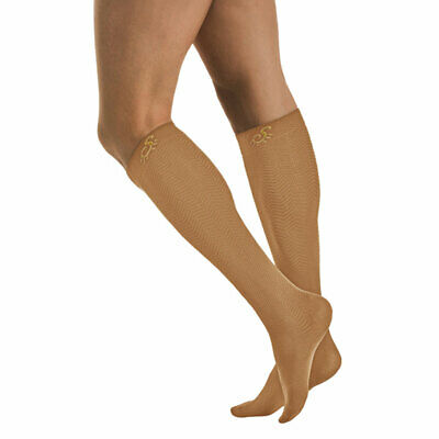 Solidea 0440A5 Active Energy Micro Massage Knee-High Socks-Md-Camel