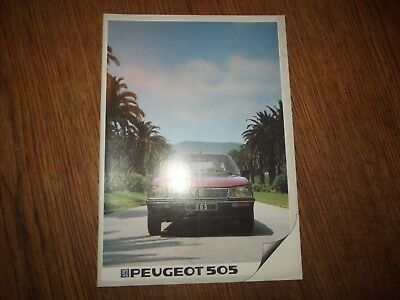 Catalogue Peugeot 505.