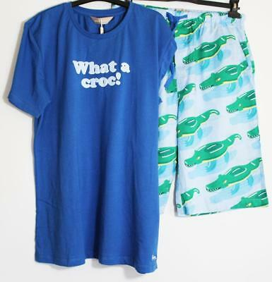 Peter Alexander Mens Croc Sleep Short & Tee Set Sz M & L NWT