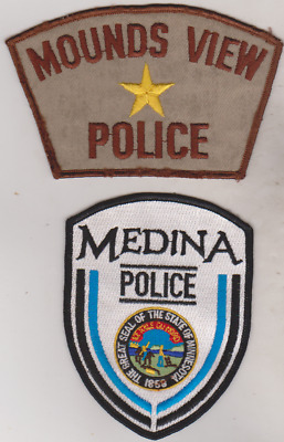 Mounds View & Medina MN Police patches