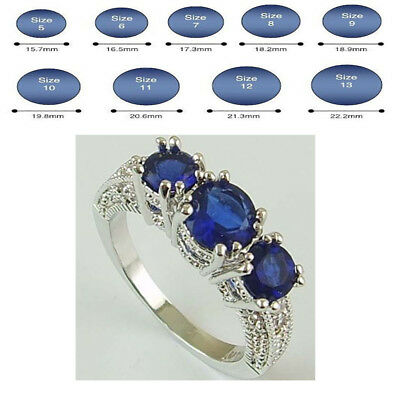 Hot Women New Fashion Silver Plated Rings Cubic Zirconia Ring Jewelry Size 6-10
