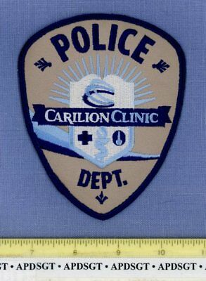 CARILION CLINIC • ROANOKE VIRGINIA Sheriff Hospital Police Patch EMS MEDICAL