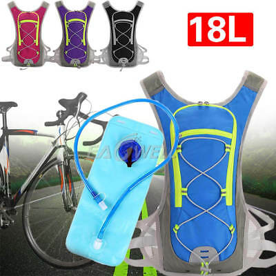 18L Bike Bicycle Cycling Hydration Pack Backpack + 2L Water Package  Hiking HOT