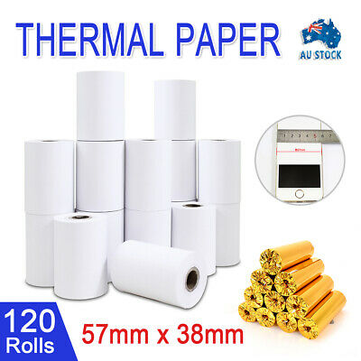 120 Bulk Rolls White 57x38mm EFTPOS Thermal Paper Cash Register Receipt AU Stock