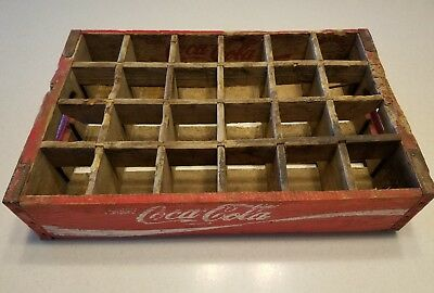 Vtg Coca-Cola COKE 24 Slot Wood Crate Case Caddy 1972 Chattanooga, TN USA