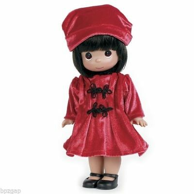 "Precious Moments Warm Your Heart Red Dress 12"" Girl Doll #4674"