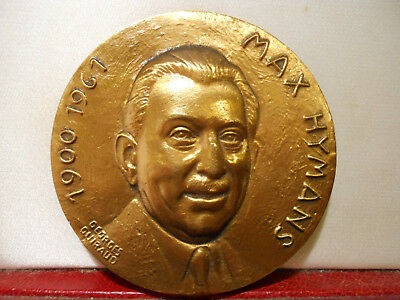 Rare Médaille Aviation Bronze Guiraud Max Hymans Air France Resistance