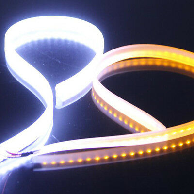 2x 60CM LED Car DRL Daytime Running Lamp Strip Light Sequential Flow Turn Signal