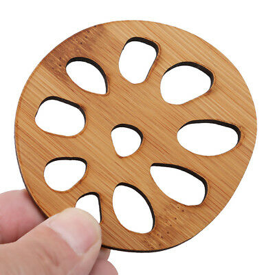 Wooden Round Placemat Cup Mat Pad Coffee Cups Home Decor LG