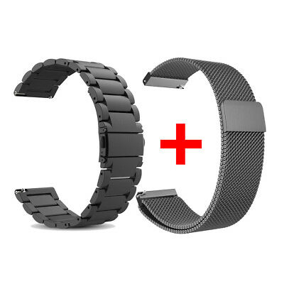 22mm Cinturino per Samsung Gear S3 Stainless Steel + Milanese Loop Strap TH885