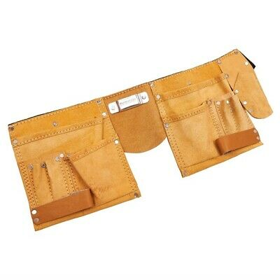 11 Pocket Leather Tool Belt - Pouch Builders Adjustable Carpenter Amtech