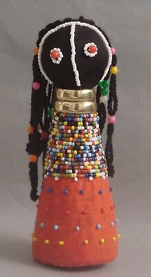 Traditional South African Sangoma Ndebele Zulu Beaded Doll - 7""