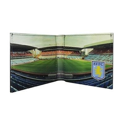 Aston Villa Fc Official Football Stadium Leather Wallet (one Size) - Panoramic
