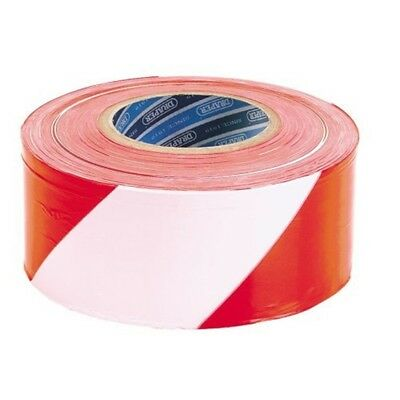 Draper Hardware 66041 72mm x 500 M Barrier Tape (red And White) - Red White 75m